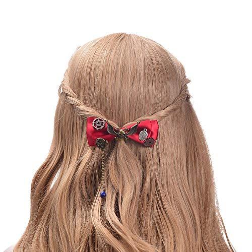 Retro Steampunk Bow Lolita Hairpin Hair Accessories Hair (Pixie Bow Pins)