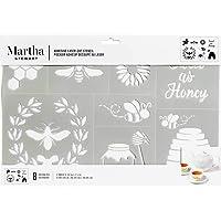 "Martha Stewart Crafts Laser -Cut Adhesive Stencil, 1 Sheet - 12"" x 7.75"", Bees and Honey"