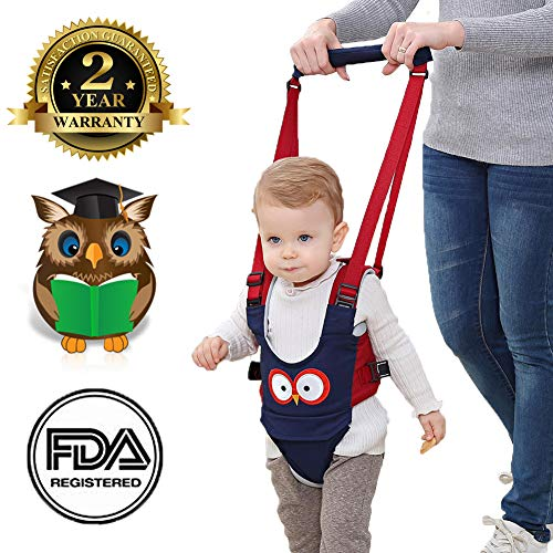 (Baby Walker, Adjustable Baby Walking Harness Safety Harnesses, Pulling and Lifting Dual Use 7-24 Month Breathable Stand Up & Walking Learning Helper for Infant Child Activity Walker (Blue) )