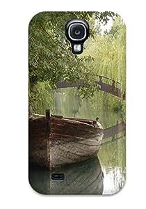 New Arrival Pretty Boat In A River JLiIgeX6489PaKzu Case Cover/ S4 Galaxy Case