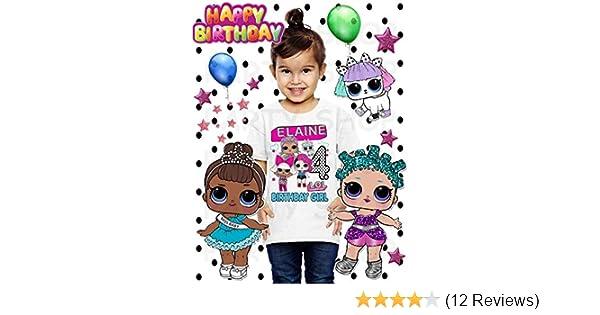 NEW CUSTOM PERSONALIZED LOL Surprise party BIRTHDAY WHITE T SHIRT birthday girl