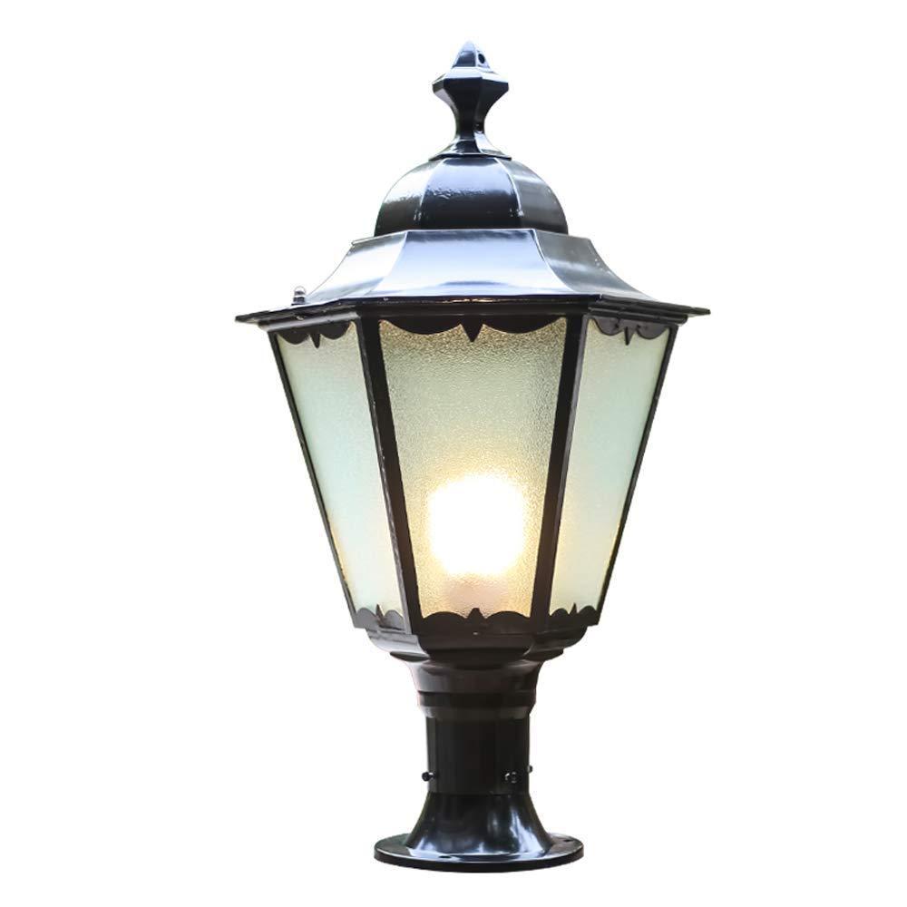 Zahngm Europeo Moderna Grande Esterno In Vetro Lampada Cinese Stile Antico Victoria Alluminio Prato Giardino Luce Impermeabile Lampada Da Tavolo Paesaggio Villa Decorazione Strada Luce