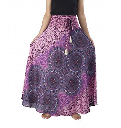 Lannaclothesdesign Womens Long Maxi Skirt Bohemian Gypsy Hippie Style Clothing