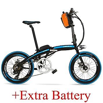 LANKELEISI QF600 Elite Big Powerful Portable 20 Pulgadas Bicicleta Plegable E, Bicicleta eléctrica de aleación