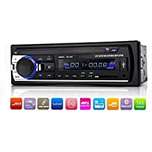 Xshop - Equipo estéreo para automóvil con Bluetooth, en el tablero din sencillo radio de coche reproductor de mp3USB/SD/AUX/Control Remoto inalámbrico incluido