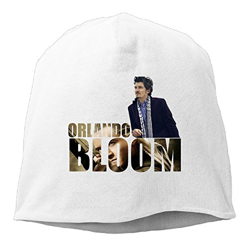 [Caromn Orlando Bloom Poster Beanies Skull Ski Cap Hat White] (Womens Three Musketeers Costumes)