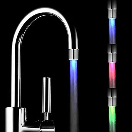 Wasserhahn Düse Temperatur Sensor 3 Farben ändern Led Light Wasser