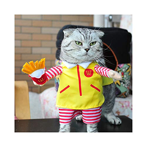 f5zhangdd Costume Nurse Policeman Pirate Cowboy Suit Dog Cat Halloween Costume Pet Puppy Suit Dressing Up Party Clothes,F,XL ()