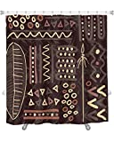 Gear New Shower Curtain, Image Of African Pattern Wallpaper Tile, GN9618