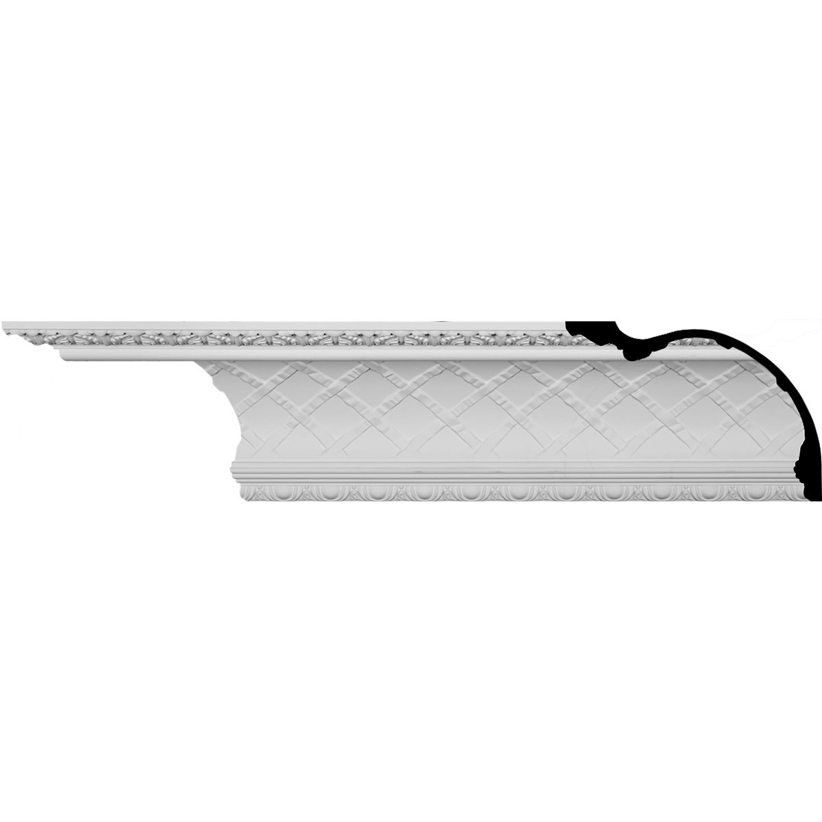 Ekena Millwork MLD12X15X19PR Preston Crown Molding, 12''H x 15 3/8''P x 19 1/2''F x 96''L