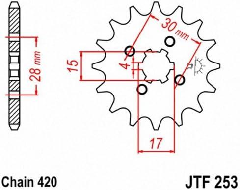 jtsprockets JT Ritzel jtf253.1717T Stahl vorne Ritzel