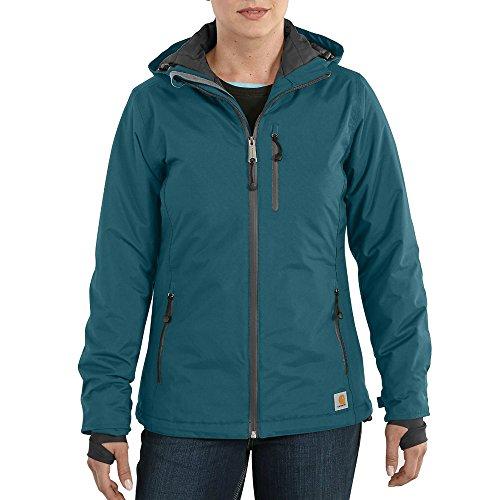 Carhartt Women's Elmira Insulated Nylon Jacket, Teal Blue, Small by Carhartt