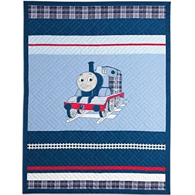 Thomas the Tank Engine Full Size Embroidered Quilt and Shams Set- Upscale Version - 100% Cotton: Home & Kitchen