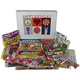 Happy Birthday Gift Basket Box - Retro Nostalgic Candy