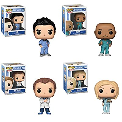 Funko TV: Pop! Scrubs Collectors Set - J.D., Turk, Dr. Cox, Elliot: Toys & Games