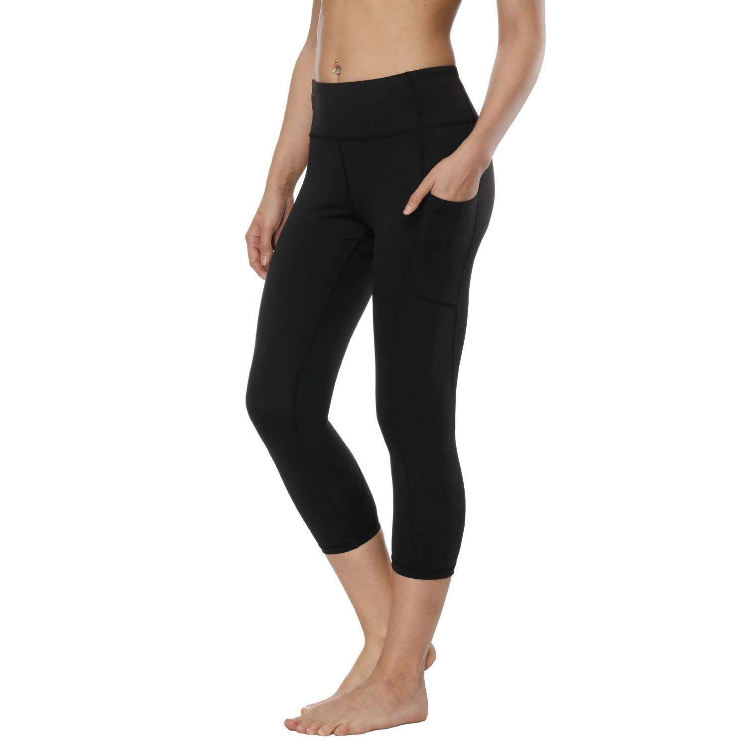 Cropped4 RURING Women's High Waist Yoga Pants Tummy Control Workout Running 4 Way Stretch Yoga Leggings
