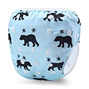 Martofbaby Reusable Swim Diapers Baby Ajustable Swimming Pants for Boys and Girls 0-3 Years