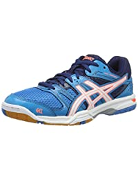 Asics GEL-Rocket 7 Running Shoes - Womens - Blue Jewel/White/Flash Coral -