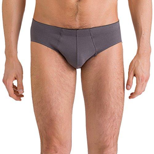 HANRO Herren Slip Cotton Superior, Grau (Ebony 2179), Large