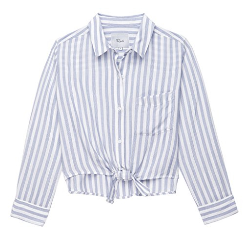 Rails Women's Val, Blue/White Stripe, L (Rail Stripe)