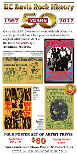 UC Davis 50th Anniversary poster set by Thomas Morris