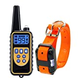 Highwinner Dog Training Collar, Anti Bark Collar with 875 Yards Remote, Waterproof Rechargeable Dog Shock Collar with Beep Vibration Static Shock for Small Medium Large Dogs (for 1 Dog) Review