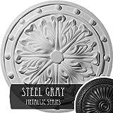 Ekena Millwork CM20FOSGS Foster Acanthus Leaf Ceiling Medallion, Steel Gray