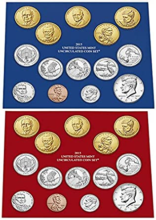 2015 P D US MINT SET 28 COINS WITH COA in OGP