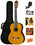 Yamaha C40 Nylon String Acoustic Guitar Bundle with Gig Bag, Tuner, Instructional DVD, Strings, Pick Card, and Polishing Cloth