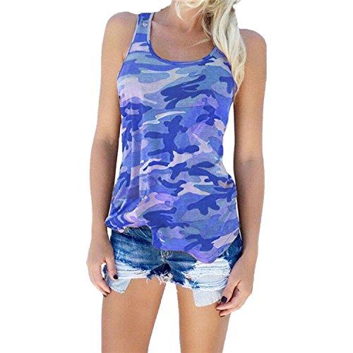 Small-shop Speed sellsmodels Women's Camouflage Wild Sleeveless Vest T-Shirt Shirt ()