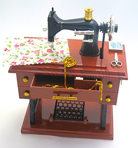 Sewing Machine jewelry music boxes, wonderful gift for collection, fashion designer, grandma's birthday, mom's birthday, mothers day.