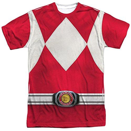 Power Rangers- Red Ranger Costume Tee T-Shirt Size (Zordon Power Rangers Costume)
