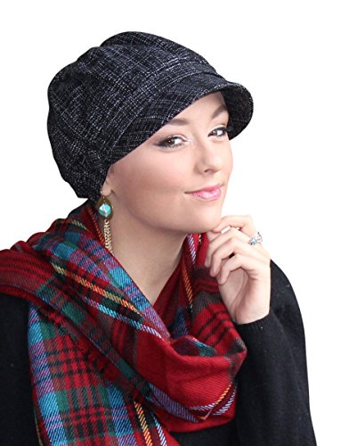 Westminster Newsboy Cap Tweed Hat Chemo Headwear for Cancer Patients