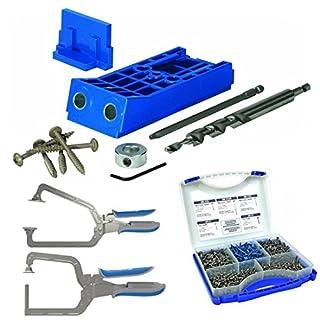 Kjhd do it yourselfore kreg kjhd heavy duty jig with screw kit 2 piece clamp set solutioingenieria Images
