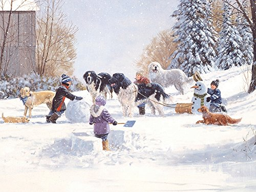 Cobble Hill Doggone Winter Jigsaw Puzzle, 400-Piece Family Puzzle