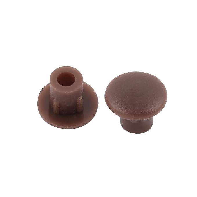Amazon.com : Silla de plástico eDealMax Tabla Muebles extremo del tubo tapa del orificio de perforación Enchufes Insertar 5mm 30pcs Brown : Office Products