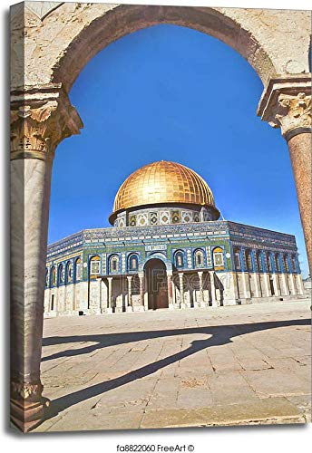 - Al Aqsa Mosque in Jerusalem Gallery Wrapped Canvas Art (36in. x 24in.)