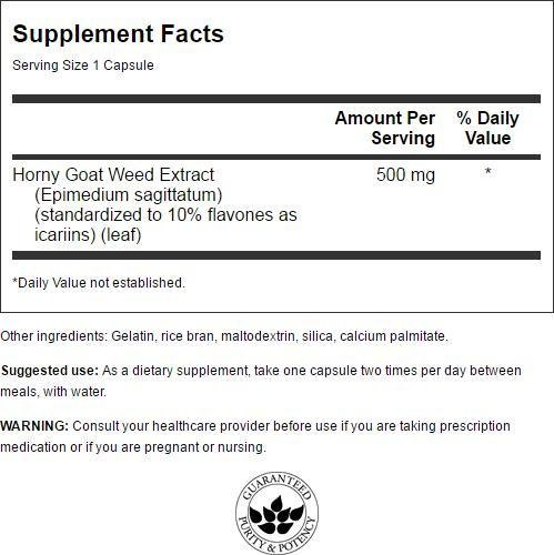 Amazon.com: Horny Goat Weed Extract 500 mg 120 Caps: Health & Personal Care