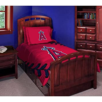 Los Angeles Angels Twin Full Comforter And Shams Set