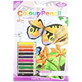 Mini Colour Pencil By Number Kit 5X7-Bright Butterflies by Royal Brush