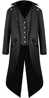 Amazon.com: ULUIKY - Traje gótico para hombre, chaqueta ...