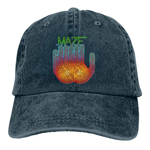 Jeans Hat Maze Frankie Beverly to Baseball Cap Sports Cap Adult Trucker Hat Mesh Cap Navy