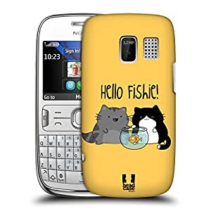 Head Case Designs Hello Fishie Wilbur and The Merry Band of Mischiefs Protective Snap-on Hard Back Case Cover for Nokia Asha 302