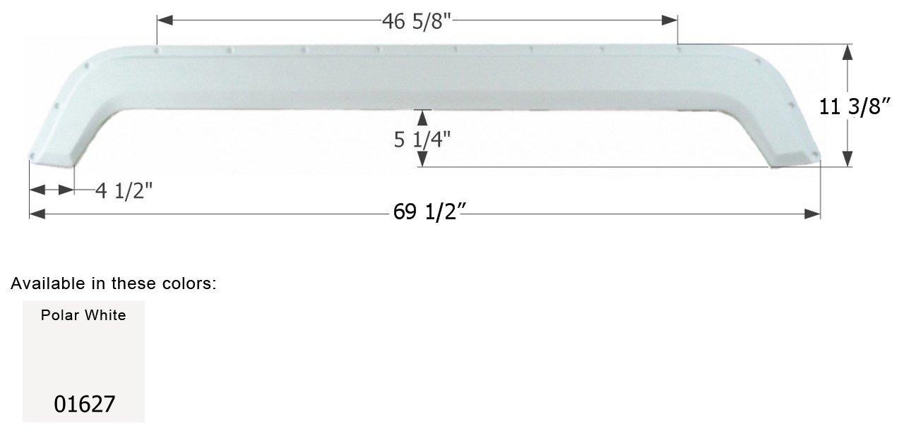 ICON Fleetwood Tandem Fender Skirt FS745, Polar White (1627) 01627