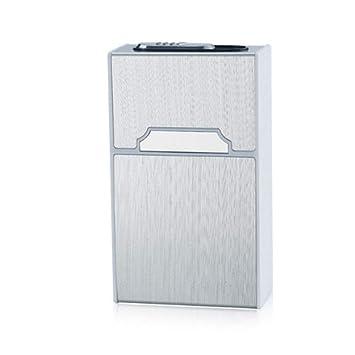 DZXUD Caja de la Caja del Cigarrillo portátil con USB Encendedor electrónico 20pcs Titular de Cigarrillos Tungsteno Turbo Encendedor eléctrico Gadgets para ...