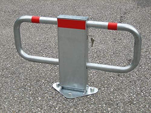 450 x 750 GAH-Alberts 770112  Parkplatzb/ügel StoppyII Profilzylinderschloss zum Aufschrauben feuerverzinkt mit roten Ringen