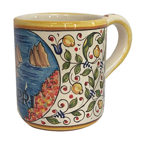 Italian Ceramic Coffee Mug - Italian Cities - Capri - Ceramiche - Coffee Deruta