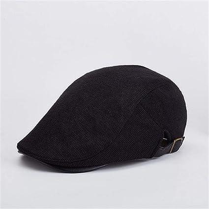 Hechgobuy Gorras de Invierno cálido Sombrero Casual Boina Exterior de Calle Frente Sombrero (Color :