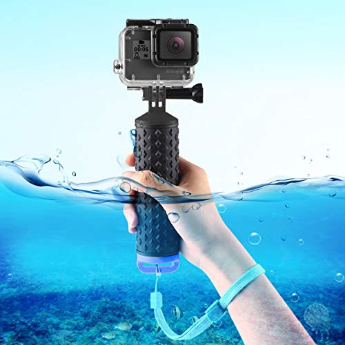 iEago RC Waterproof Floating Hand Grip Handle Diving Buoyancy Monopod with Wrist Strap for DJI OSMO Action / GeekPro 3.0 / Gopro Hero Camera