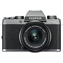"Fujifilm X-T100 w/XC15-45mm Lens Kit Dark Silver Mirrorless Digital Camera with 3.0"" TFT LCD"